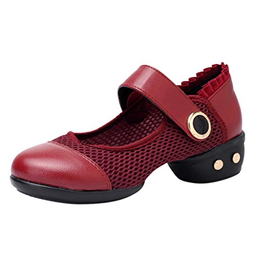 Purchase Women's Pulse Leather and Neoprene Split Sole Jazz Shoe Slip-on Loafers (Red, US:7)