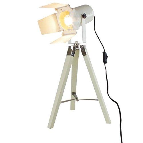 Grundig Tischlampe Stativlampe weiss 65cm Kino Studio Strahler Spotleuchte