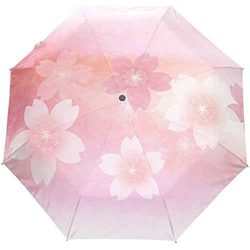 Sommer Frühling Blumen Blumen Elegant Auto Öffnen Schließen Sonne Regen Regenschirm