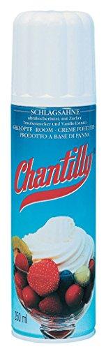 Chantilly - Sprühsahne mit Vanillearoma - 250ml