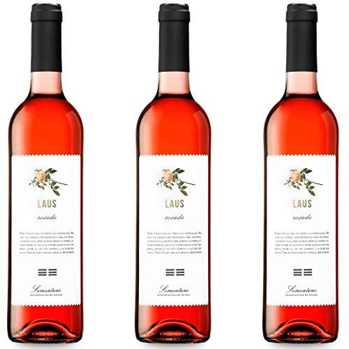 Laus Rosado Vino Rosado - 3 botellas x 750ml - total: 2250 ml