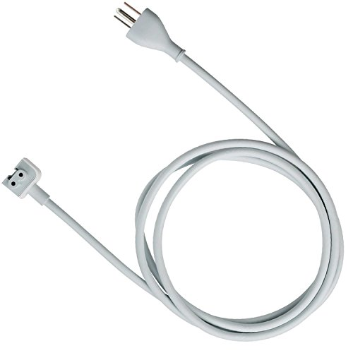 tesha MacBook Pro Charger Extension 45W, 60W, 65W and 85W Power Adapter Extension Cord for MacBook/Pro/Air US 3 Prong-6feet/1Pack