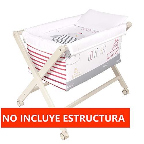 Vestidura Minicuna Tijeras mibebestore Blanco/Rosa