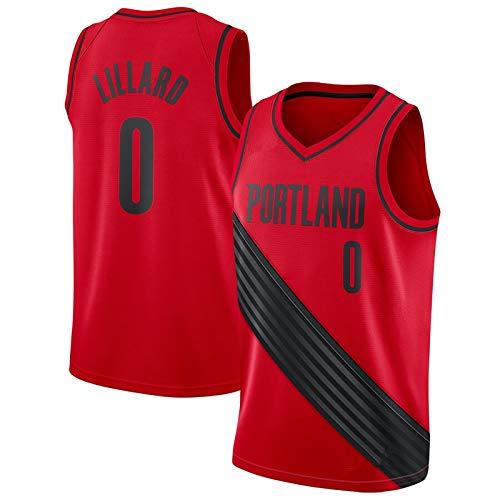 NIUPUPU Camiseta de Baloncesto para Hombre NBA C.J. McCollum 3 Damian Lillard 0 Camiseta atlética Retro Camiseta sin Mangas Deportiva Camiseta Deportiva S-XXL