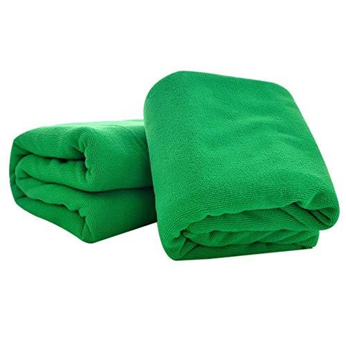 LASISZ 1pc Microfibra Washcloth Bath Towel Absorbent Drying Bath Beach Towel Swimwear Shower Face Washer Beauty Salon Bath Towels,Dark Green,70x140cm