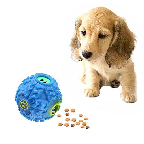 WEIHONG Jouet for Distributeur de Nourriture for Animaux de Compagnie Squeaky Giggle Quack Sound Dressing Ball Toy à mâcher, Taille: M, Diamètre de la Balle: 9,2 cm (Bleu)