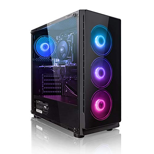 Megaport Gaming PC AMD Ryzen 5 2600 6 x 3.90 GHz Turbo • Nvidia GeForce GTX 1650 4GB • 240GB SSD • 1000GB Festplatte • 16GB DDR4 RAM • Windows 10 Home • WLAN Gamer pc Computer Gaming Computer