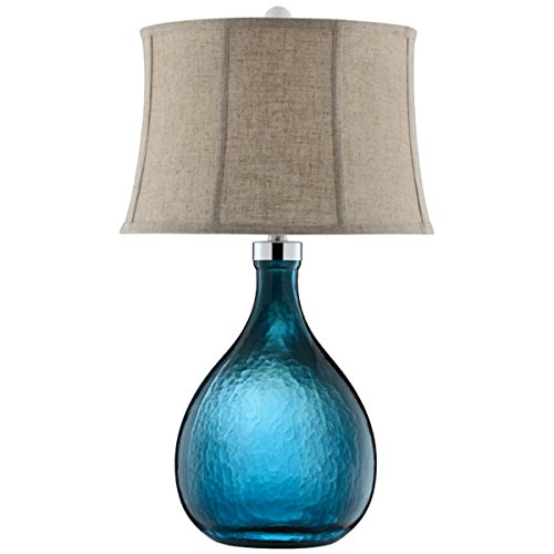 Stein World Furniture Ariga Glass Table Lamp, Blue