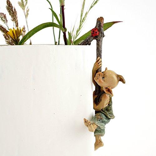 Top Collection 4383 Miniature Fairy & Terrarium Garden Pixie Flower Pot Hugger Statue, Small