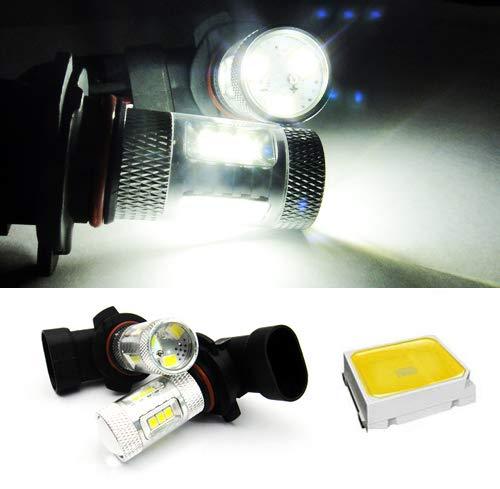 2 x Blanc 9006 HB4 ampoule LED Samsung veilleuses circulation diurnes DRL lampe de brouillard