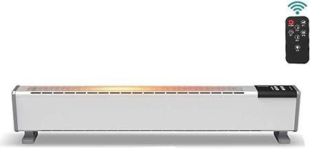 GXFC 2000W Calentador de rodapié, Calentador de termostato de convección eléctrica, Radiador de Baja energía para el hogar, la Oficina, la Tienda, Área aplicable 21 m²
