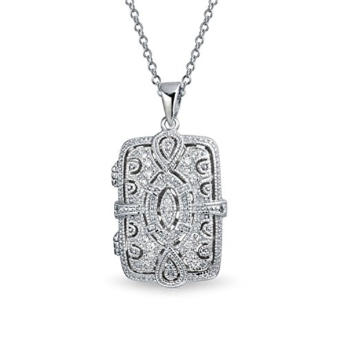 Vintage Style Filigree Infinity Rectangle Aromatherapy Essential Oil Perfume Diffuser Locket Pendant Necklace For Women