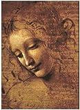 Imprimir En Lienzo 60x90cm Sin Marco Pintura de la cabeza de una mujer - Por Leonardo Da Vinci Posters e impresiones Imagen para