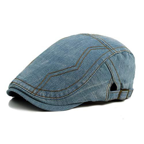 XYAL0003002 Xingyue Aile hoeden & mutsen, 2019 lentezomer mannelijk baskenmuts cap, wassen oude cowboyhoed vrouwelijke universele eendentong baskmuts krant jongen retro hoed