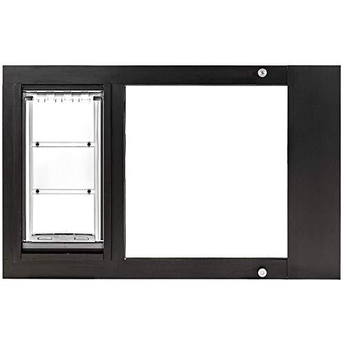 Endura Flap Thermo Sash 3e Pet Door for Sash Windows - (Small (6'x11'), Height Range (31'-34'), White Aluminum Frame)