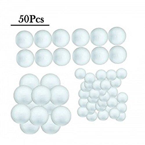 Petit ensemble de 50 en mousse Craft Balles en mousse (lot de 30 balles de 3/10,2 cm, 2,5 cm Lot de 12 balles et Lot de 8 Balles de 1 1/5,1 cm)