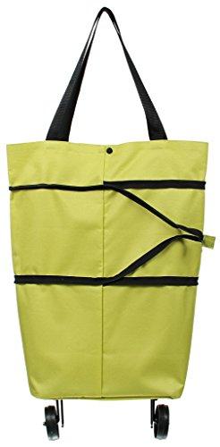 Biwinky Trolley per la spesa leggero Borsa per la spesa trolley borsa shopper pieghevole (verde)