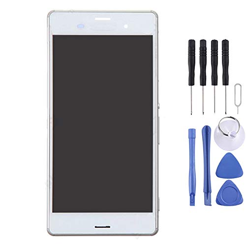 Handy-Bildschirmersatz-Set, Bildschirm Ersatz-Touch-Display LCD Digitizer Assembly with Full-Reparatur-Werkzeuge, for Sony Xperia Z3 (Dual-SIM-Version) / D6633 / L55U (Color : White)