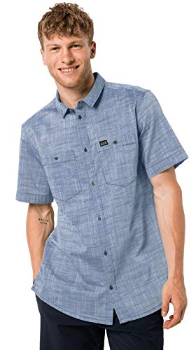 Jack Wolfskin Emerald Lake Shirt M Chemise Homme Ocean Wave FR : XL (Taille Fabricant : XL)