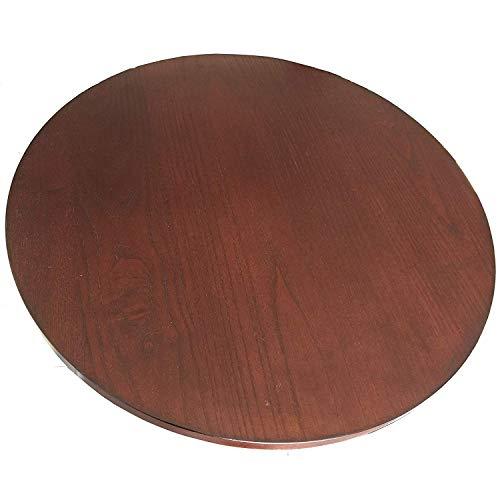 Grand plateau tournant en bois marron - Diamètre 53,3 cm