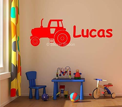 Traktor Ackerschlepper Kinder Personalisierten Namen Wandkunst Wandaufkleber Aufkleber