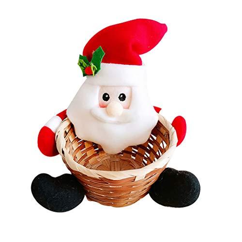 MuSheng (TM) Corbeille de Fruit Candy Storage Basket Corbeille à Pain Bonbons Panier Mignon pour Noël Fête Décoration de Table Panier Cadeau pour Enfant des Gamins 13x13x15CM (A)