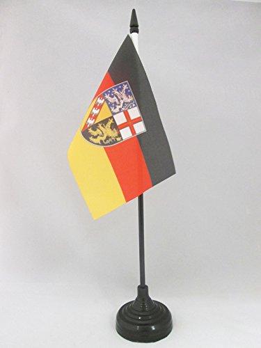 AZ FLAG TISCHFLAGGE Saarland 15x10cm - Saarland TISCHFAHNE 10 x 15 cm - flaggen