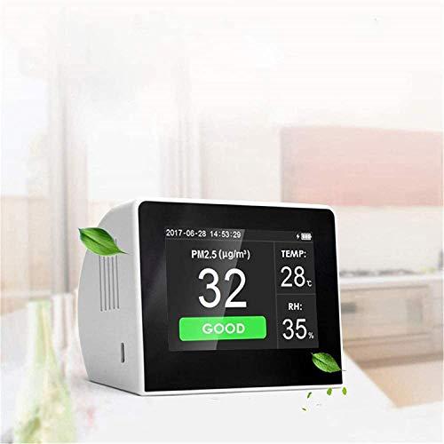 InLoveArts Luftqualität Monitor Multifunktionales Digitalanzeige PM2.5/PM10/HCHO/TVOC/CO2-Detektor Thermometer und Hygrometer Formaldehyd Messgerät Für Home-Office-Fahrzeuge Verschiedene Anlässe