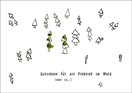 Stuur een bos cadeaubon (blanco): cadeaubon voor een picknick in het bos (of zo...) • ook voor direct verzenden met je persoonlijke tekst als inlegger. • Individuele wenskaart met envelop, hoogwaardige kwaliteit