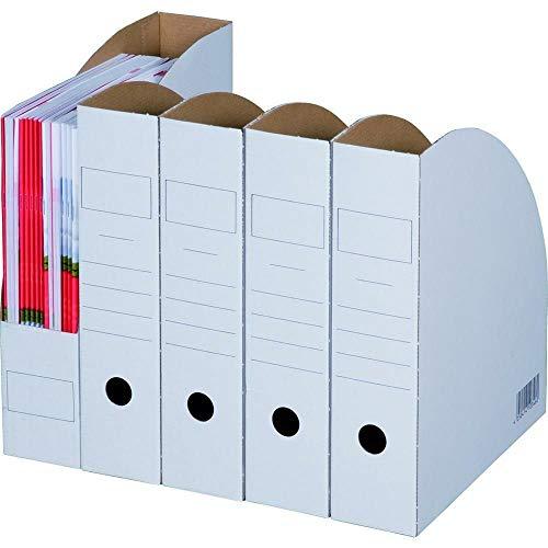 20 Stück Archiv-Ablagebox weiß BIANCO Stehsammler 278 x 73 x 318 mm