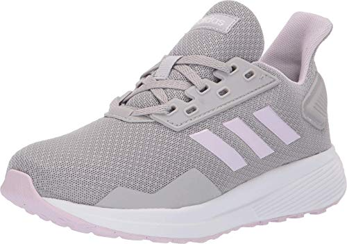 adidas Unisex-Kid's Duramo 9 Running Shoe, Grey/Aero Pink/White, 6 M US Big Kid