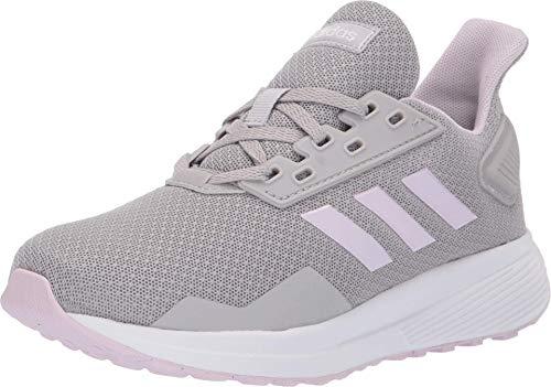 adidas Unisex-Child Duramo 9 Running Shoe, Grey/Aero Pink/Cloud White, 1