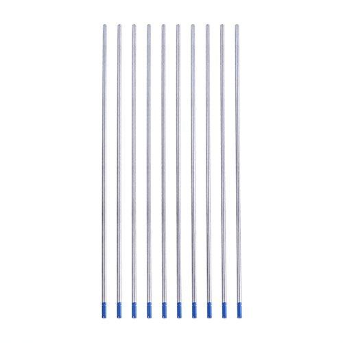 Electrodo De Tungsteno TIG, Electrodo Lantanado Punta Azul Profesional 2.0% Varilla TIG Lantanada WL20 para Soldadura CC De Aceros Inoxidables, Aleaciones De Níquel, Aluminio(2,4 * 175 mm)