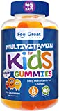 Feel Great Vitamin Co. Multivitamin Gummies for Kids   Daily Chewable Supplement for Children with Vitamins A, Vitamin C, D3, E, B6, B12, Zinc, Iodine   Immune System & Wellness Support*   90 Ct