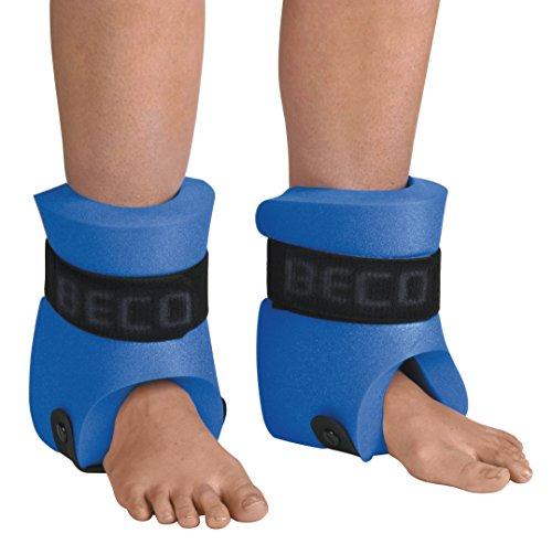 BECO Beinschwimmer Paar Auftriebshilfen Jogging Hilfe Aqua Training Unisex, Blau, M