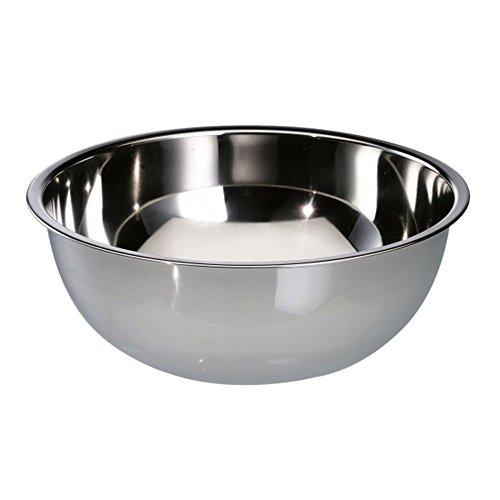 COM-FOUR® Rührschüssel aus Edelstahl - Salatschüssel - Obstschale - Metallschüssel - Edelstahlschüssel - Servierschüssel - Deko Schale - 7 L (1 Stück - Ø 34cm)