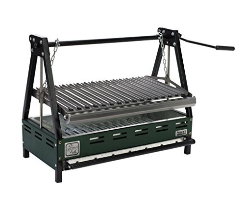 Hobby Grill Asador Pampa II Black Empotrable, color Verde/Negro, 50.5 x 111 x 83 cm