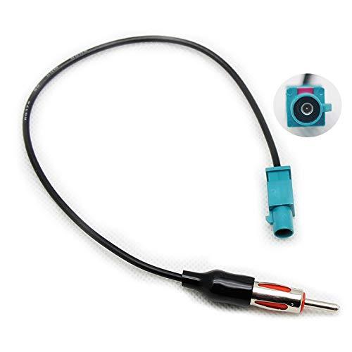 RED WOLF Auto Fakra Antennenadapter Stecker auf Din Stecker für Ford BMW Volkswagen VW Jeep Dodge Porsche GPS Autoradio Antenne Adapter Kabel