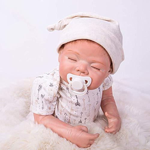 yunyu The Magic Toy Shop 58Cm Muñeca Realista Saskia Reborn 23 Pulgadas Dormir recién Nacido Muñeca de Silicona Suave Realista Muñecas nutritivas Muñeca Ligera para niños pequeños Juguete