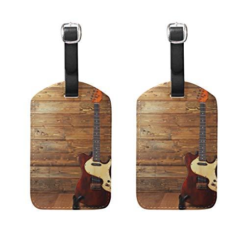 Ahomy - Juego de 2 Etiquetas de Seguridad para Equipaje, Guitarra eléctrica...