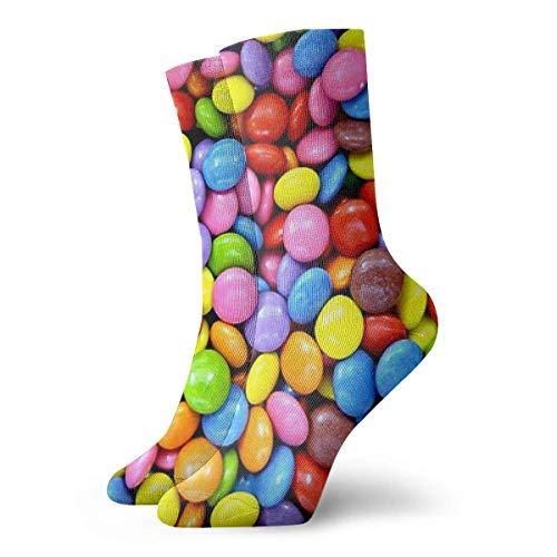 VJSDIUD Caramelos de colores Anna Angel. ¡Yum! Calcetines Calcetines cortos deportivos clásicos de 30 cm / 11,8 pulgadas adecuados para hombres mujeres