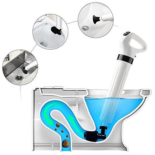 windaze High Pressure Toilet Plunger, Plungers for Bathroom, Air Toilet Plunger, Toilet Plunger, Air Power Toilet Plunger, Suitable for Bathroom, Toilet, Bathtubs, Kitchen, Showers and Floor Drain