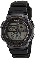 small Casio AE-1000W-1AVCF Resin Men's Sports Watch with Black Strap