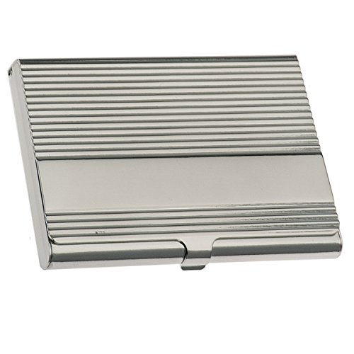 silberkanne Visitenkartenetui 9,5x6 cm Silber Plated versilbert in Premium Verarbeitung