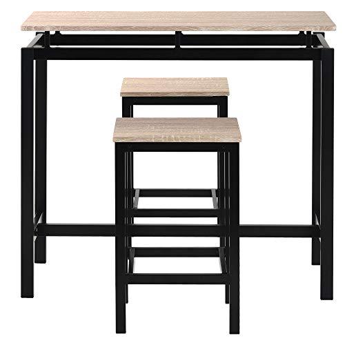 Bufccy Oil Barrel Bar Table Bar Table Height-Adjustable Bar Table Black Restaurant High Table