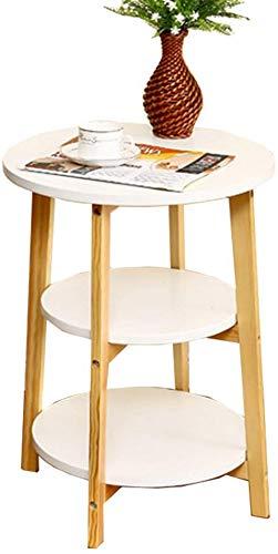 QTQZDD salontafel, bijzettafel, bank, nachtkastje, bureau, make-uptafel, eettafel, houtmateriaal, 46464662 cm, theetafel (kleur: wit) 1 1