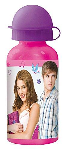 p:os 22941 Trinkflasche Disney Violetta, Aluminium, 400 ml
