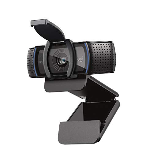 Logitech C920S HD Pro Webcam, Videochiamata Full HD 1080p/30fps, Audio Stereo ‎Chiaro, ‎Correzione Luce HD, Privacy Shutter, Per Skype, Zoom, FaceTime, Hangouts, ‎‎PC/Mac/Laptop/Tablet/XBox‎, Nero