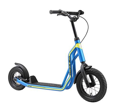 STAR SCOOTER Kinder Tret Roller ab 6-7 Jahre | 12/10 Zoll Mixed City Kick Scooter Luftreifen | Blau