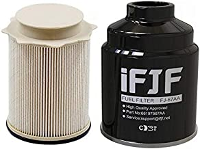 iFJF Fuel Filter Water Separator set Replacement for Dodge Ram 6.7L 2500 3500 4500 5500 6.7L Turbo Diesel Engines 68197867AA 68157291AA